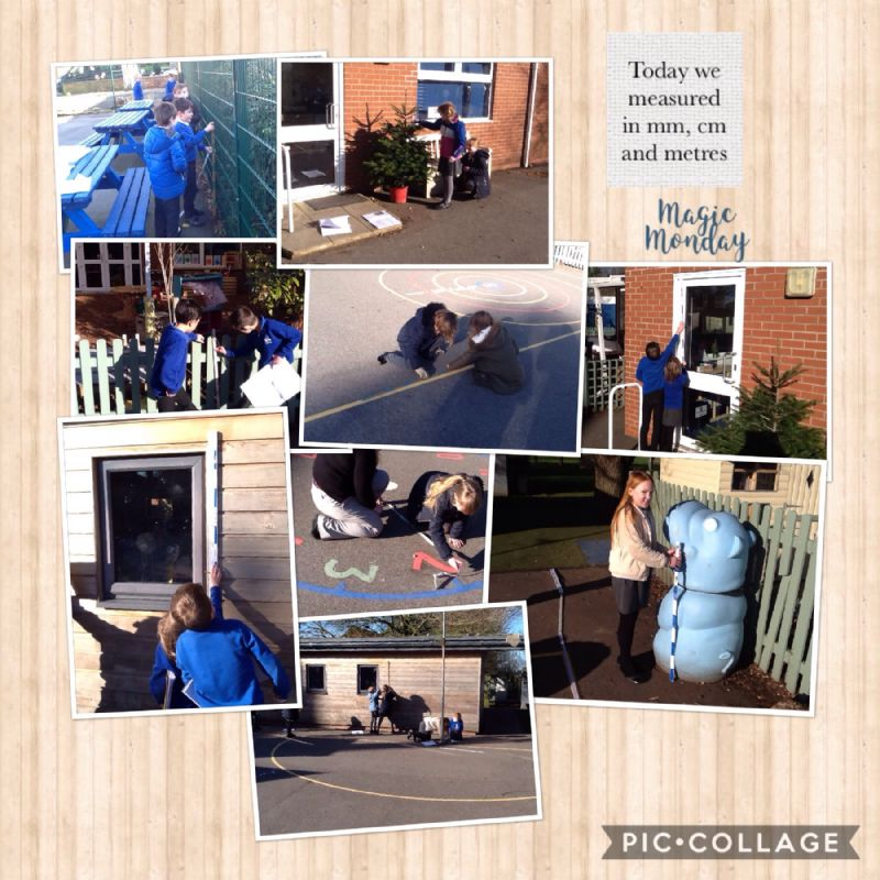In maths we have learnt all about measurement, exploring the school grounds to measure different objects in cm and m.